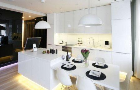 Белая кухня: идеи светлого дизайна