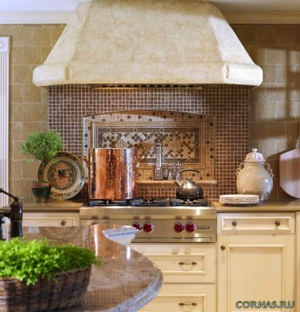 Как может использоваться мозаика на кухне?