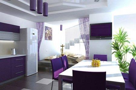 Фиолетовая кухня: идеи дизайна