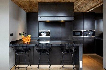Идеи дизайна черной кухни