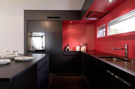 Красно-черная кухня: идеи дизайна