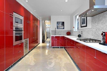 Красная кухня: идеи дизайна