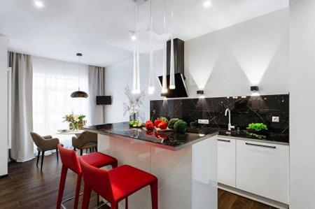 Черно-белая кухня: идеи дизайна