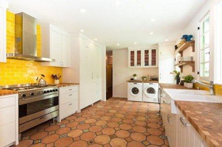 Плитка для кухни на пол: виды, как выбрать