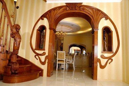 Арки из гипсокартона в гостинной и спальне