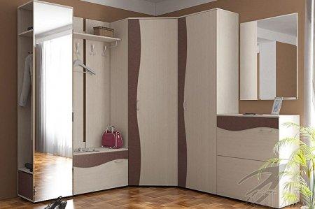 Угловые шкафы в прихожую: виды и модели