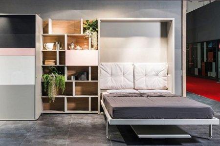 Дизайн спальни. Кровать с мягким изголовьем