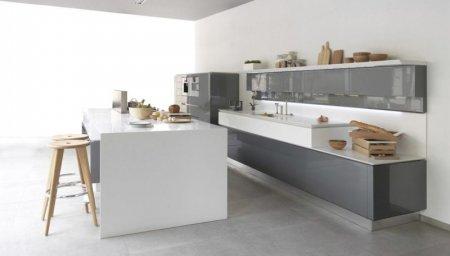 Кухня серого цвета — монохромный дизайн