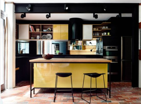 Кухня лимонного цвета — варианты идеального сочетания