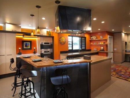 Кухня в оранжевом цвете: варианты идеально сочетания дизайна оранжевого цвета