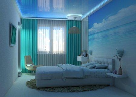 Голубая спальня — романтичный и уютный дизайн в голубых тонах