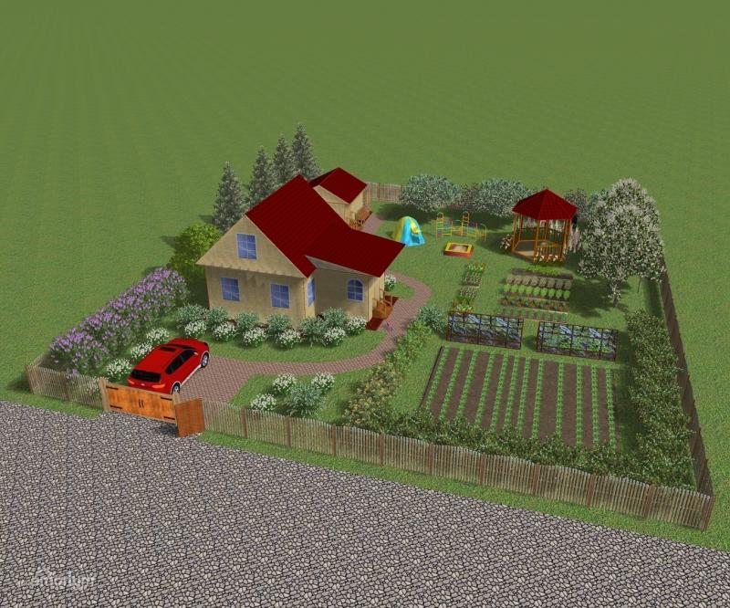 план участка 6 соток с домом