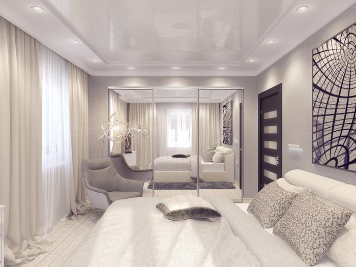 дизайн интерьера гостиной и спальни современный дизайн
