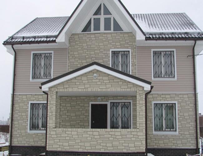 Фасад из профлиста (40 фото как обшить дом