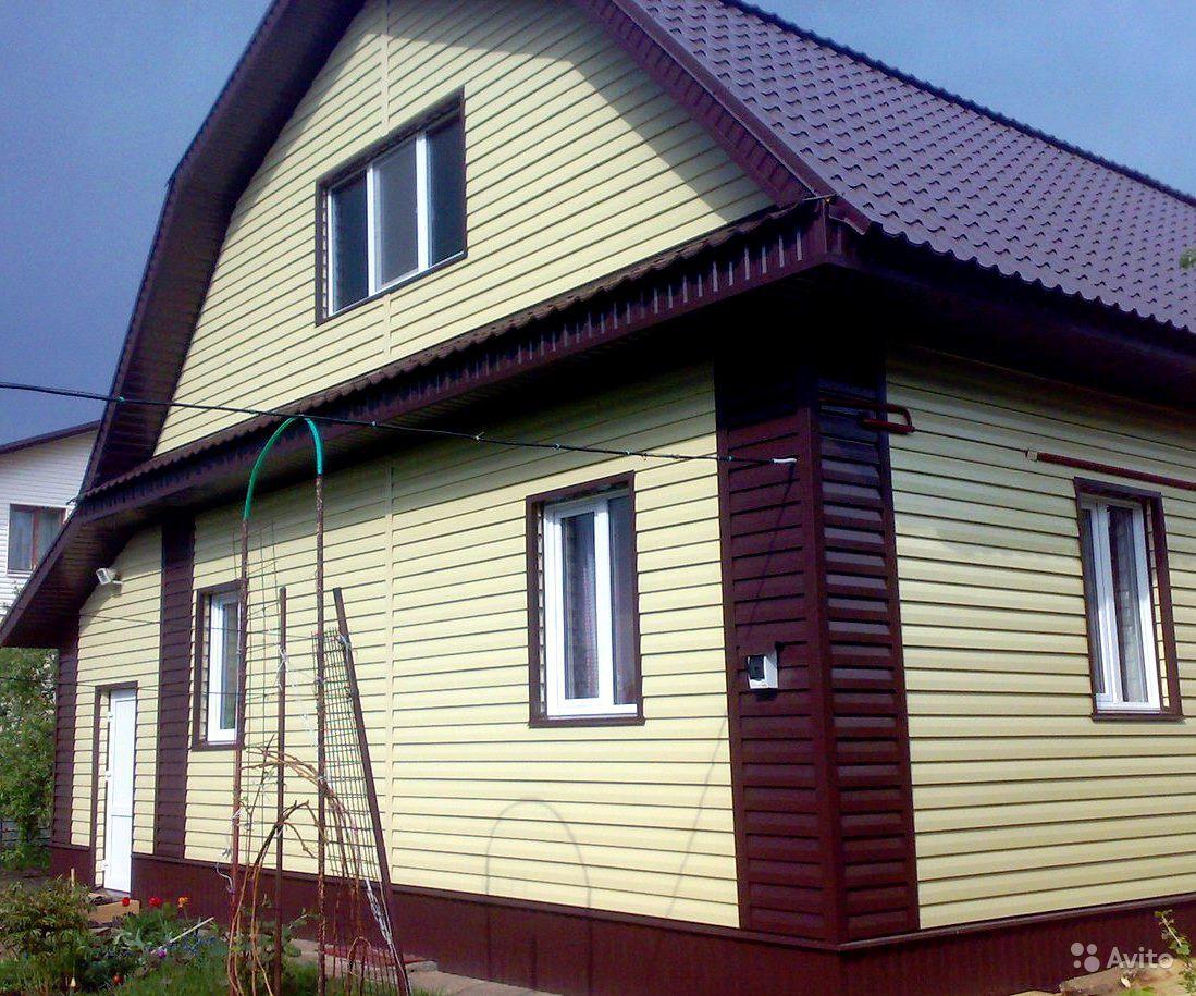 обшить дом желтым сайдингом