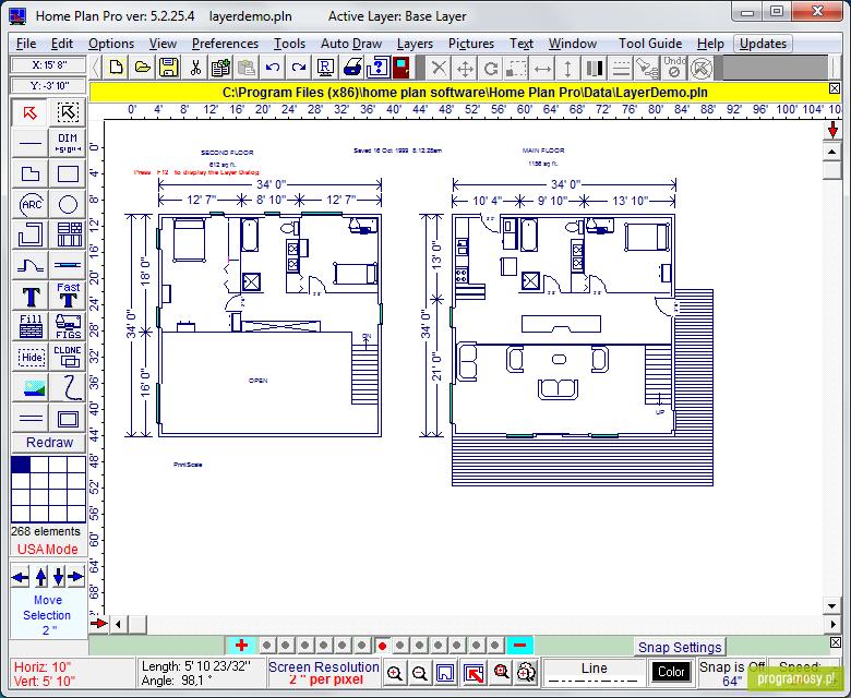 план здания программа