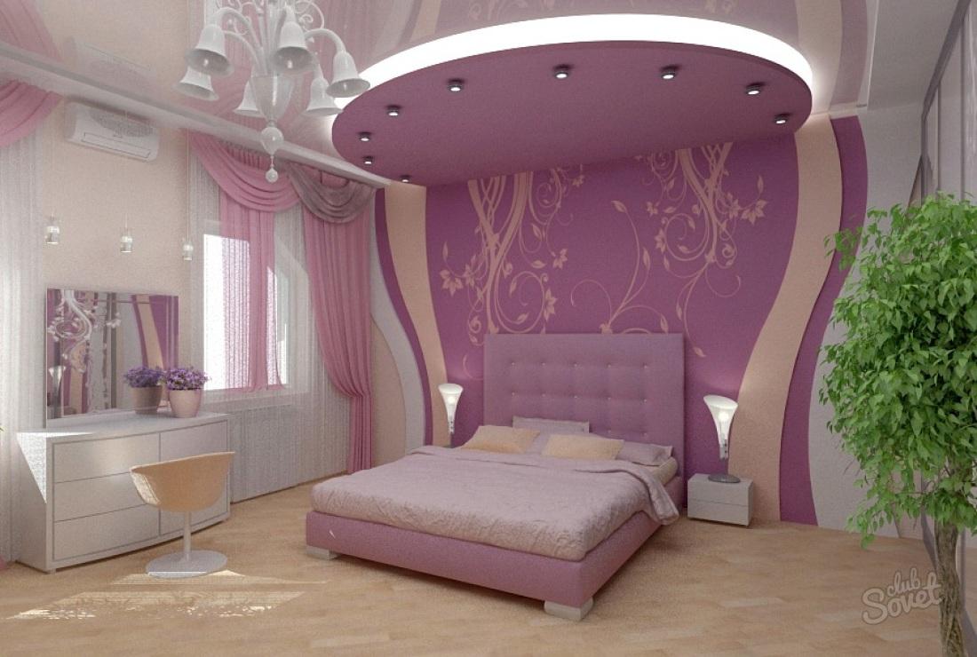 фото дизайн потолка в спальне