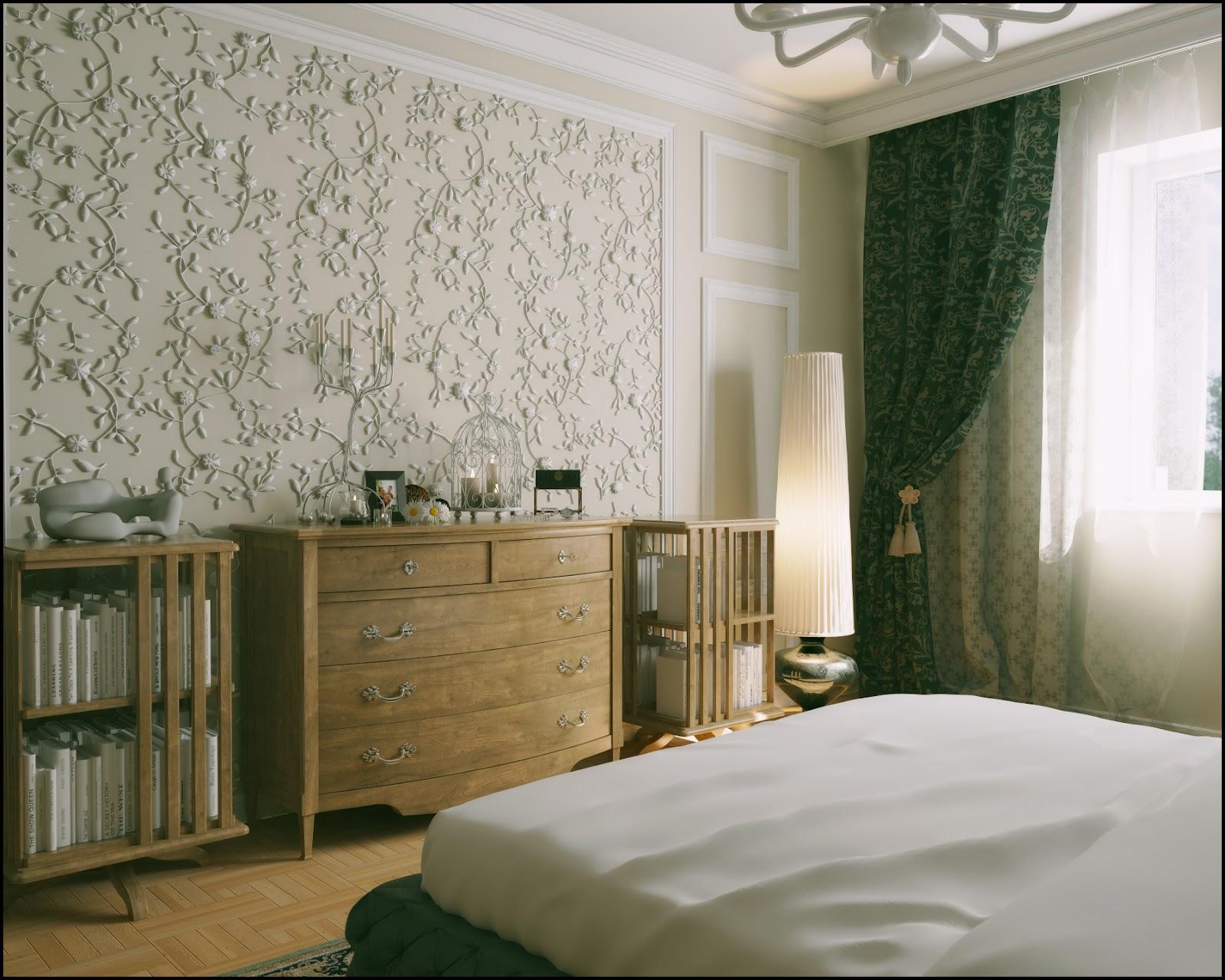 обои маленькой спальни фото современный дизайн
