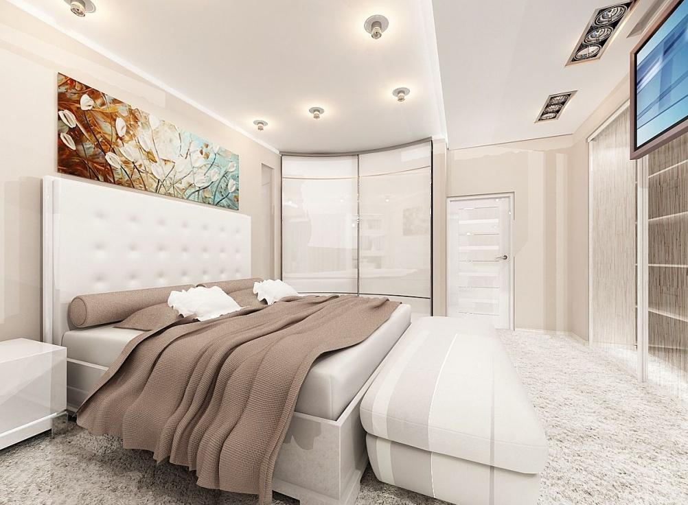 Дизайн спальни неправильной формы фото » Современный дизайн на Vip-1gl.ru