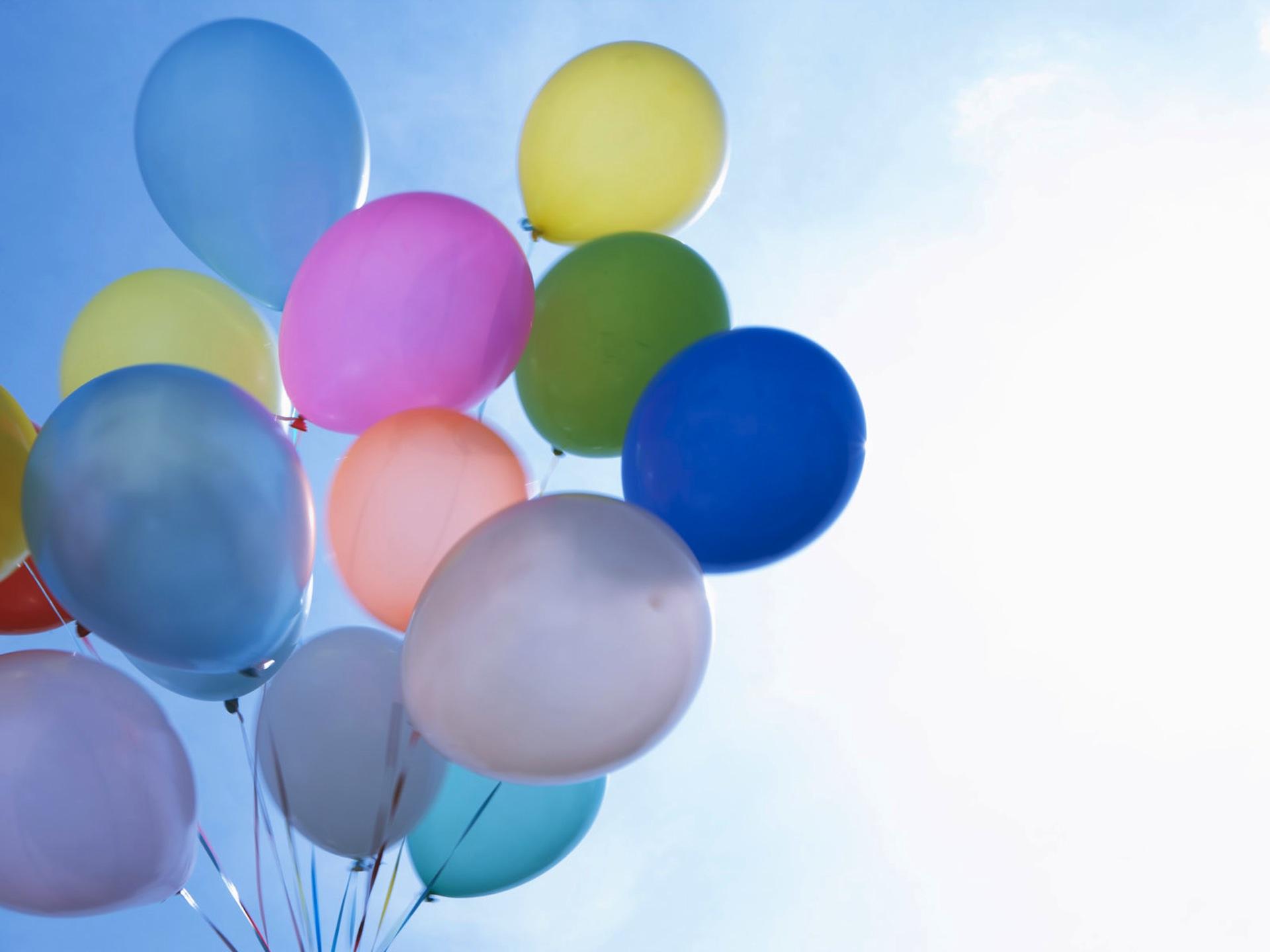 Прикольные, шары на день рождения открытка