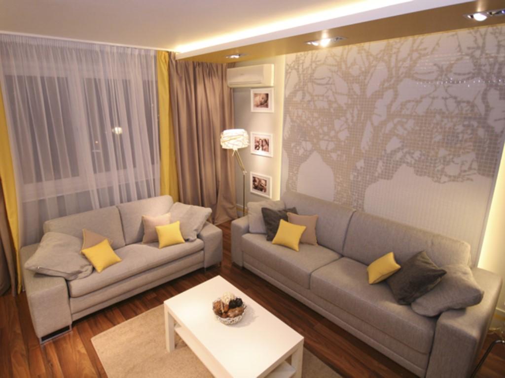 Дизайн гостиной комнаты 17 кв.м
