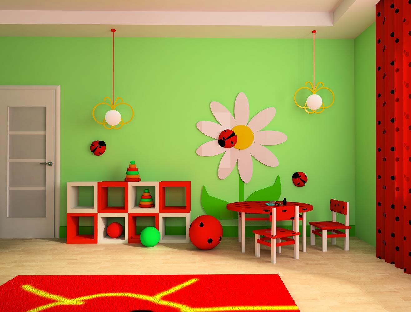 Оформление игровой комнаты детском саду