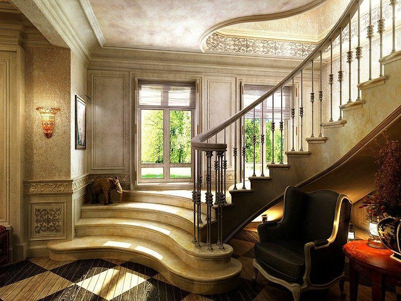 Дизайн интерьера загородного дома коттеджа
