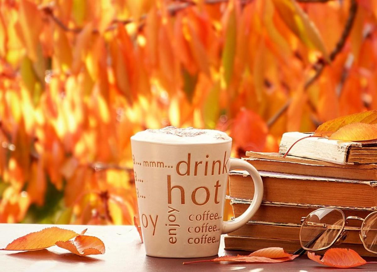 обои на рабочий стол осень кофе уют 15686