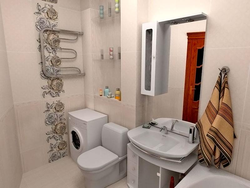 Дизайн маленькой совмещенной ванны и туалета