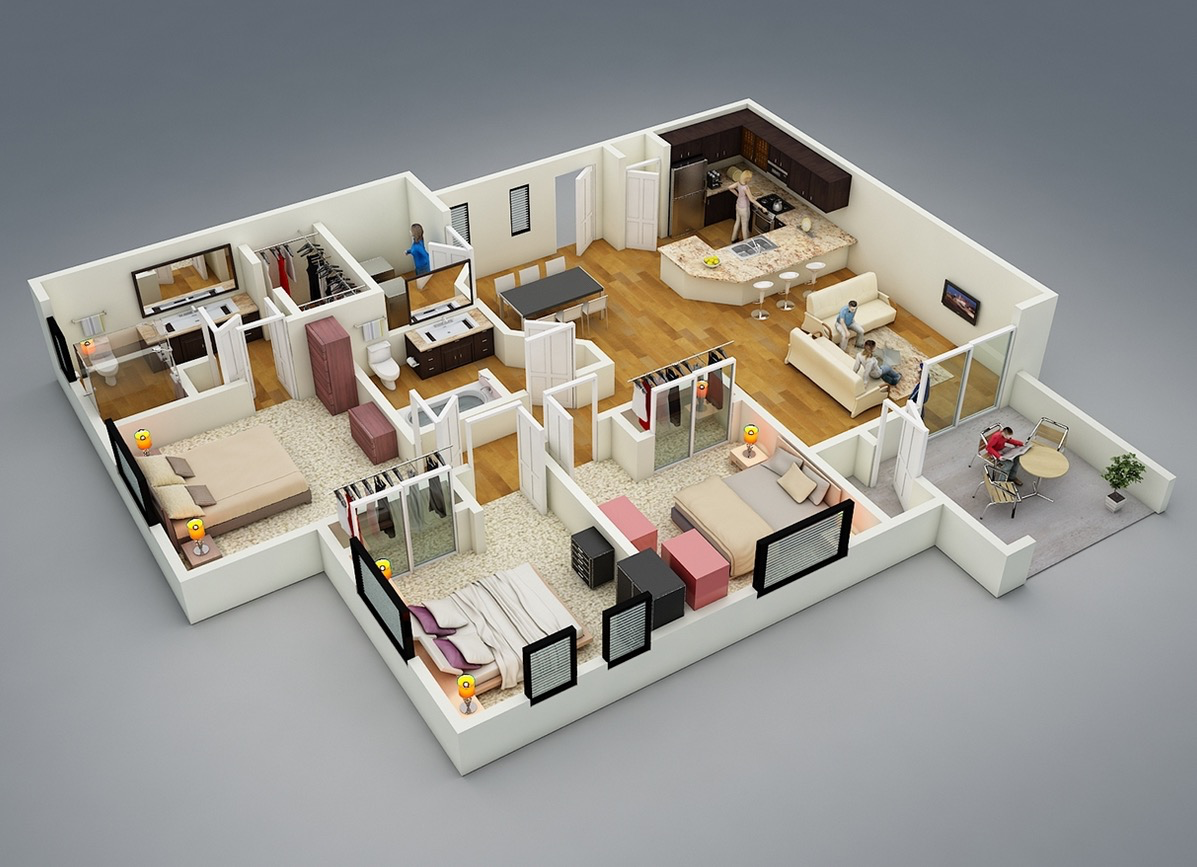 House plan 3d online free