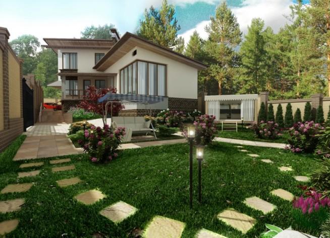 Фото дизайну двору