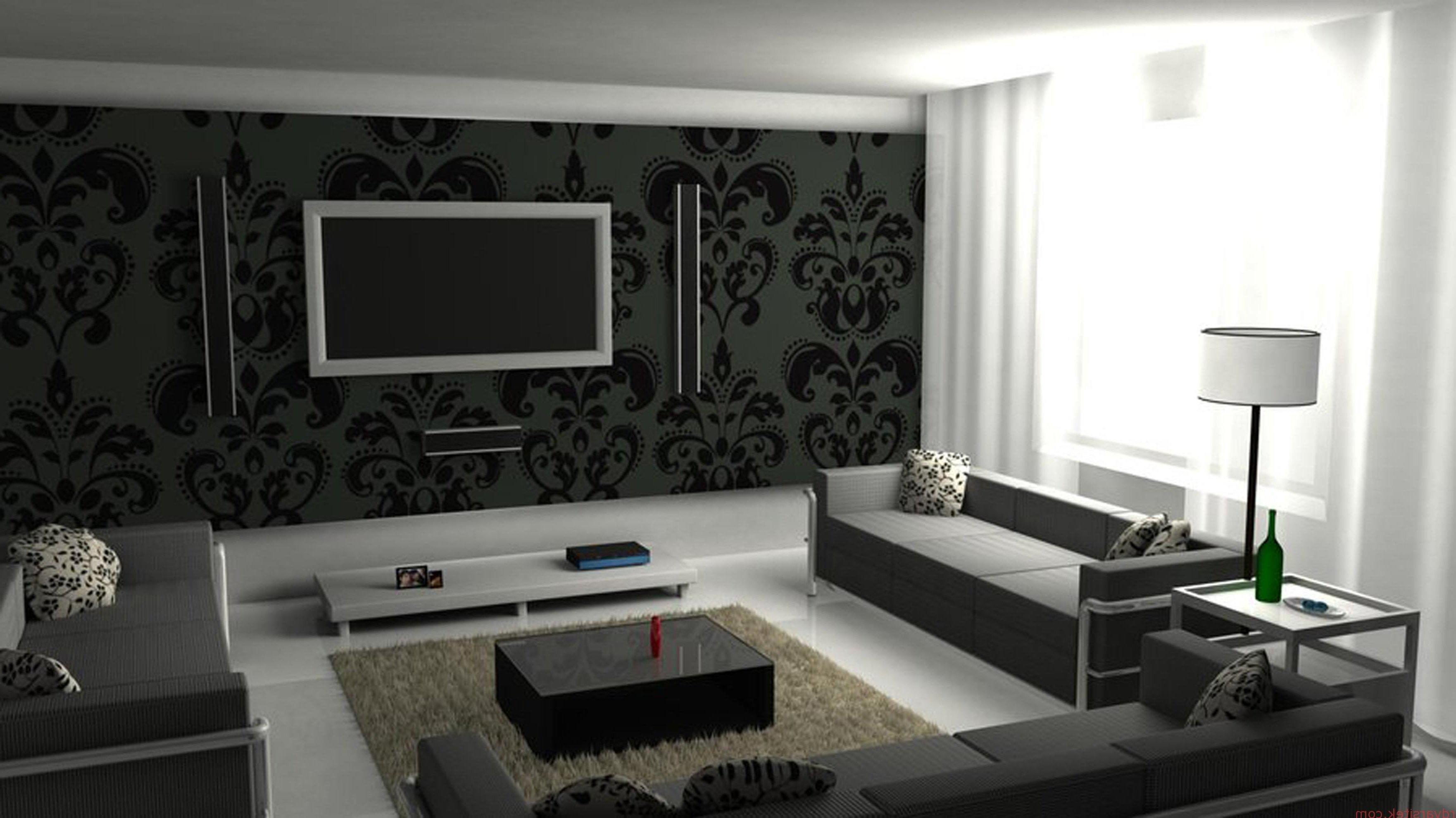 Интерьер зала в черно белом цвете фото