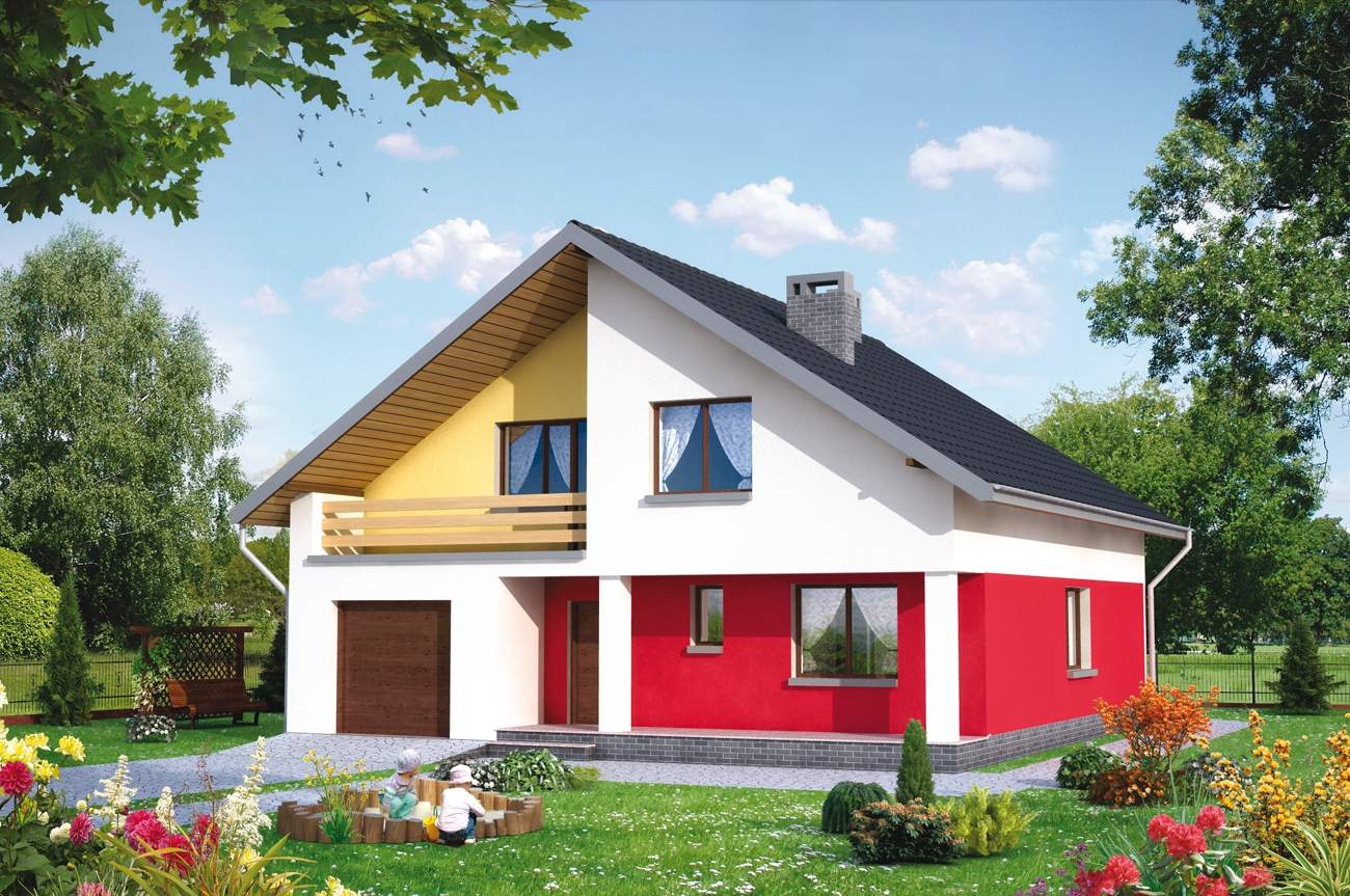 Проекты двухэтажных домов с гаражем, терассой проекты неболь.