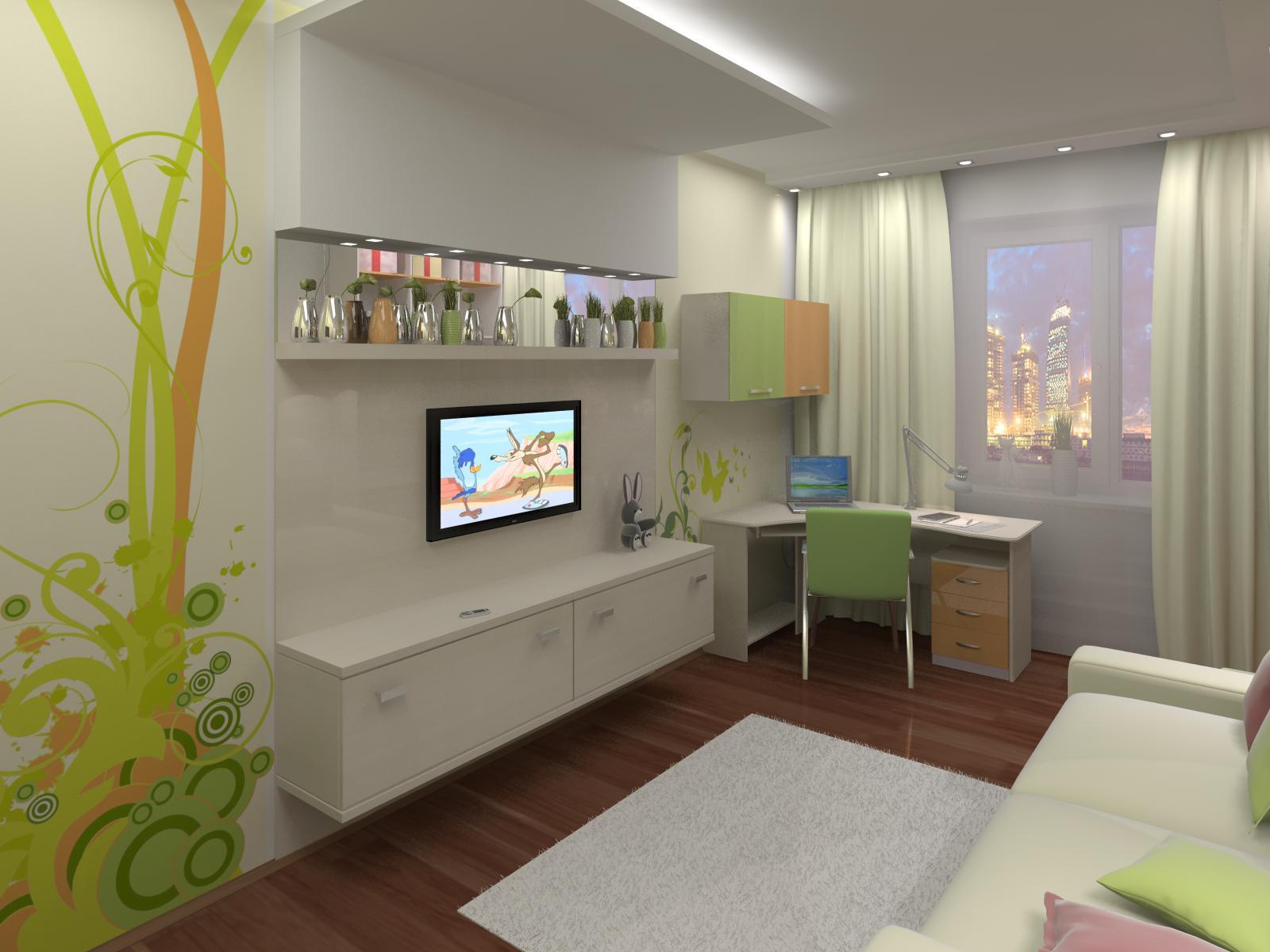 Фото дизайн детской комнаты 8 кв.м