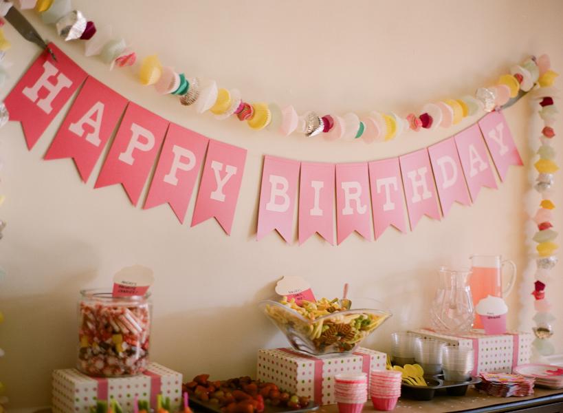 Украшение комнаты день рожденья своими руками