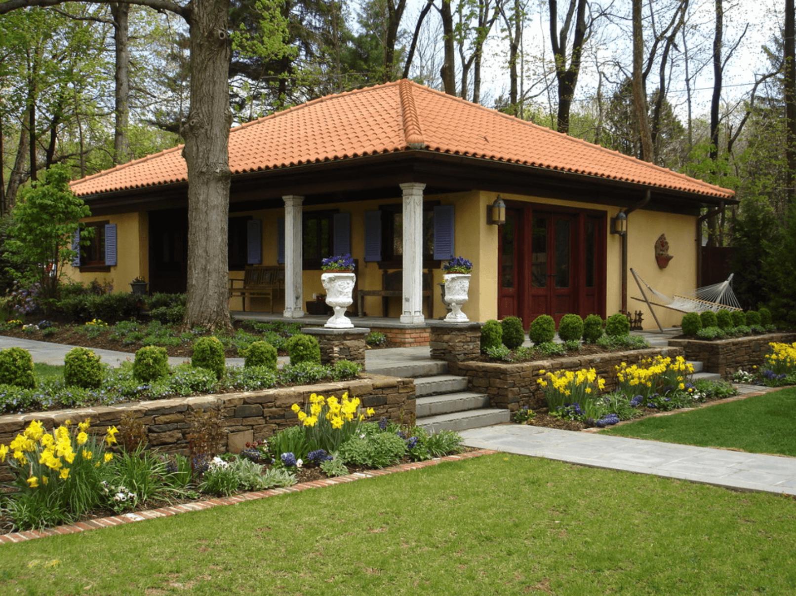 Дома с ландшафтным дизайном фото
