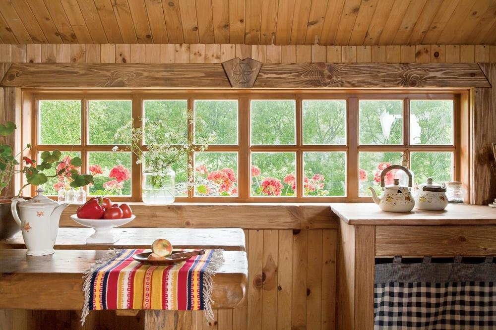 Интерьер простой деревенский дом