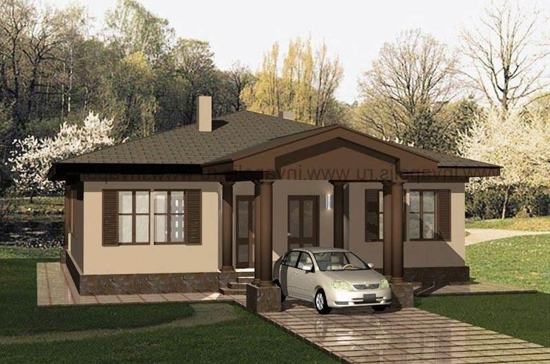 Дизайн частных домов снаружи одноэтажные