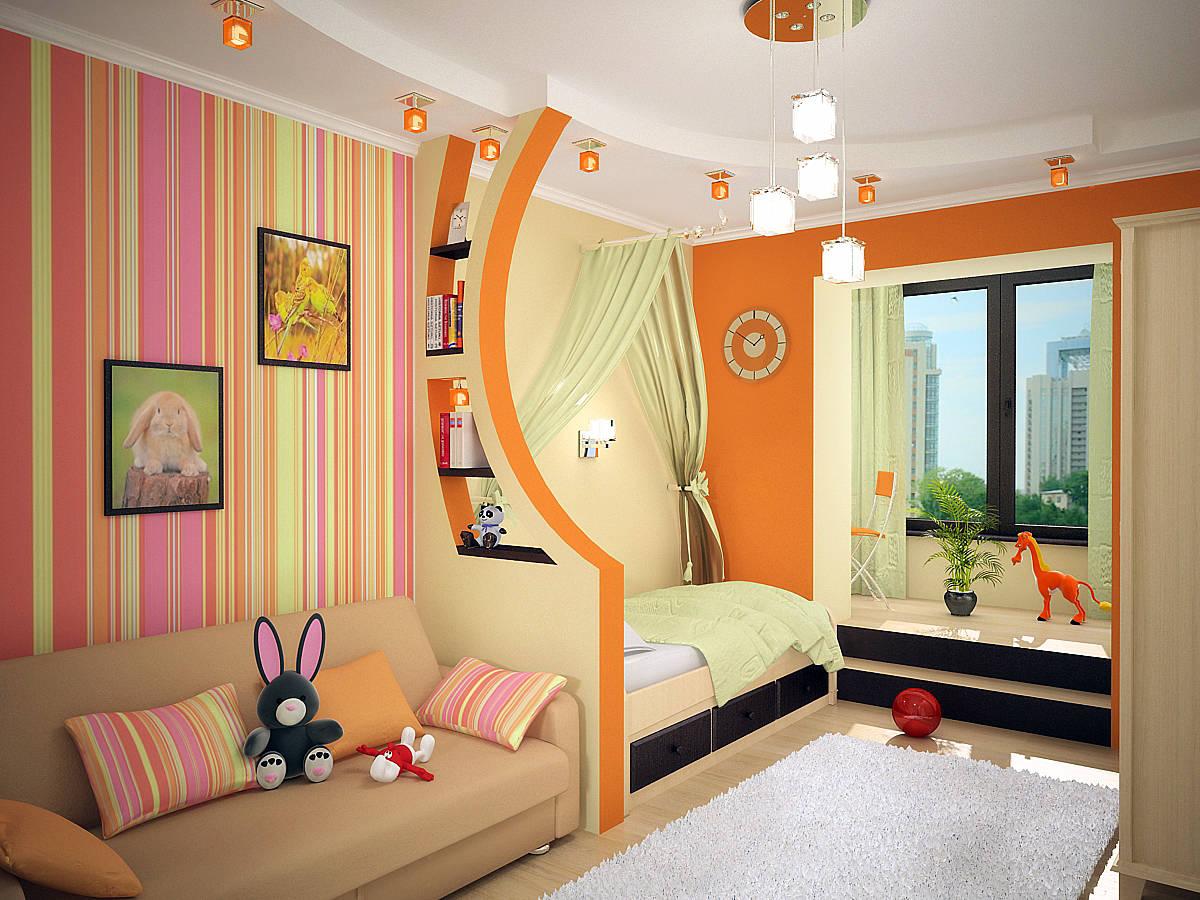 """Интерьер подростковой комнаты в хрущевке """" Современный дизайн"""