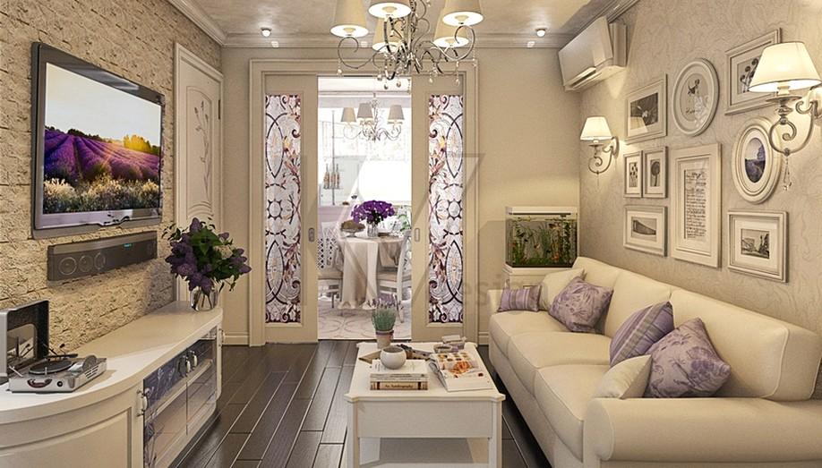 Фото дизайн гостиной в стиле прованс интерьер