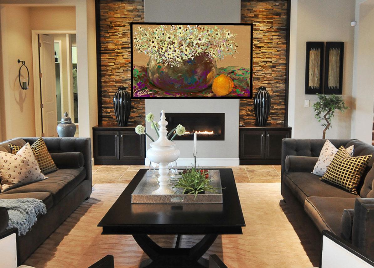 Камины и телевизор в интерьере гостиной фото