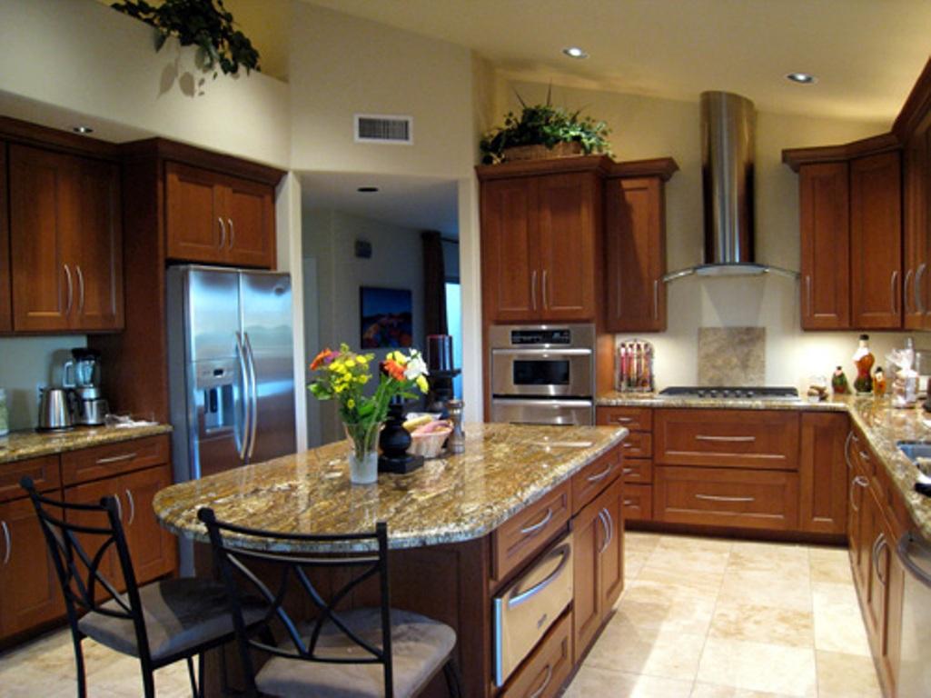 Интерьер больших кухонь фото