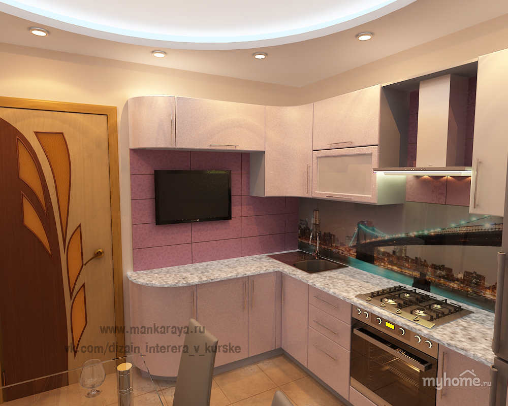 Дизайны малогабаритных кухонь