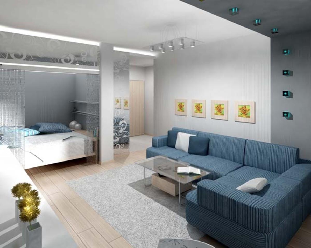Фото планировки и дизайна однокомнатной квартиры