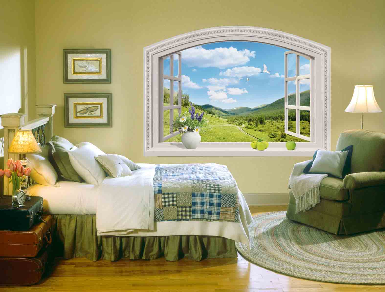 Дизайн стен с окнами