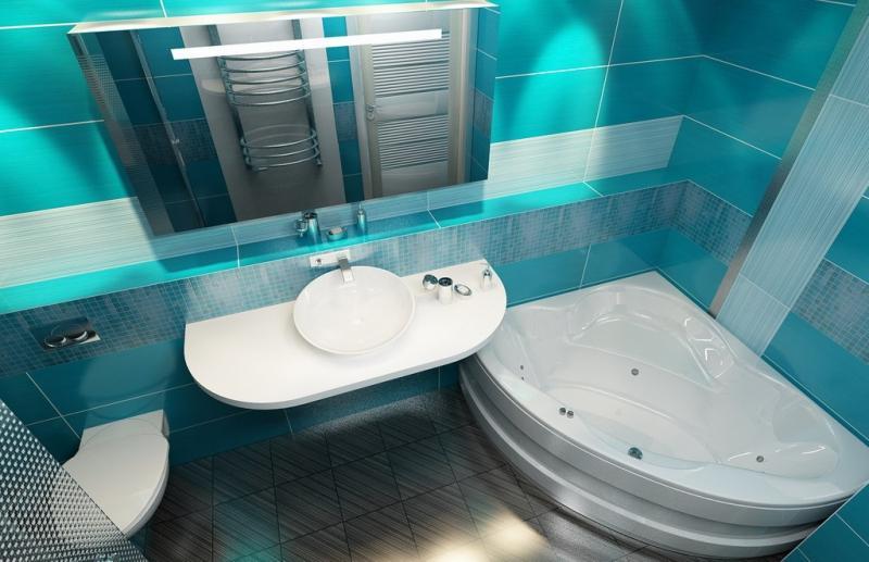 Ванная комната с туалетом дизайн 4.5 кв м