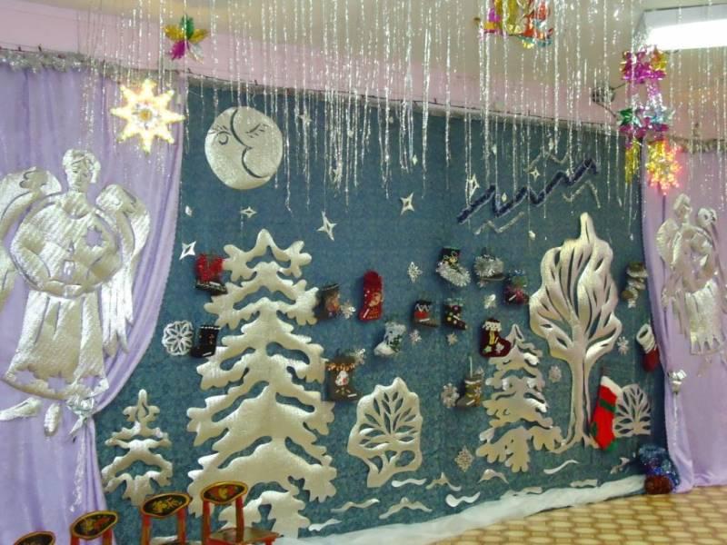 Новогоднее украшение своими руками в детском саду 82