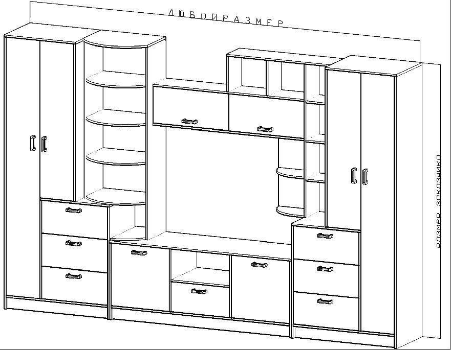 Корпусная мебель и чертежи