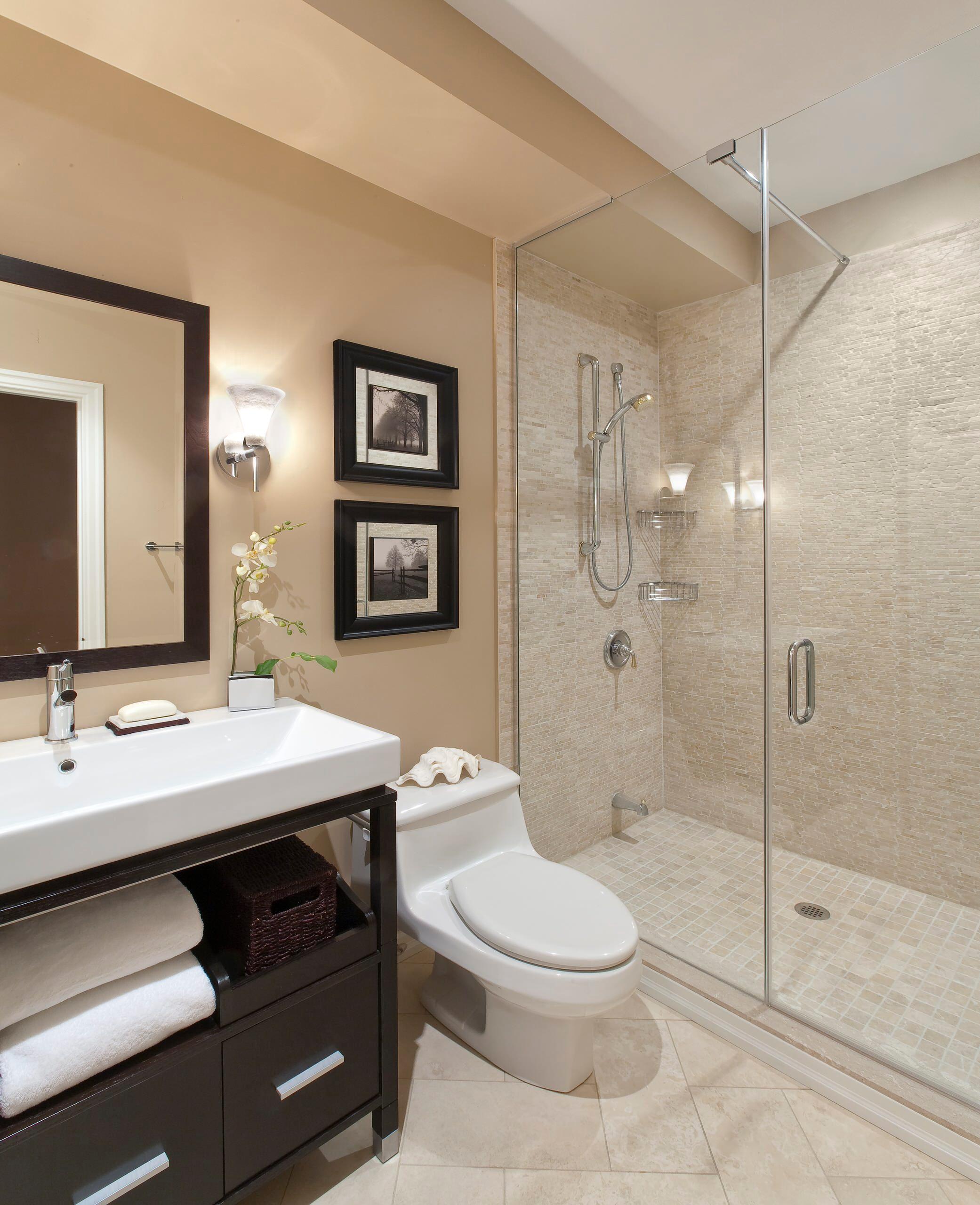 Дизайн маленькой ванной комнаты современные идеи