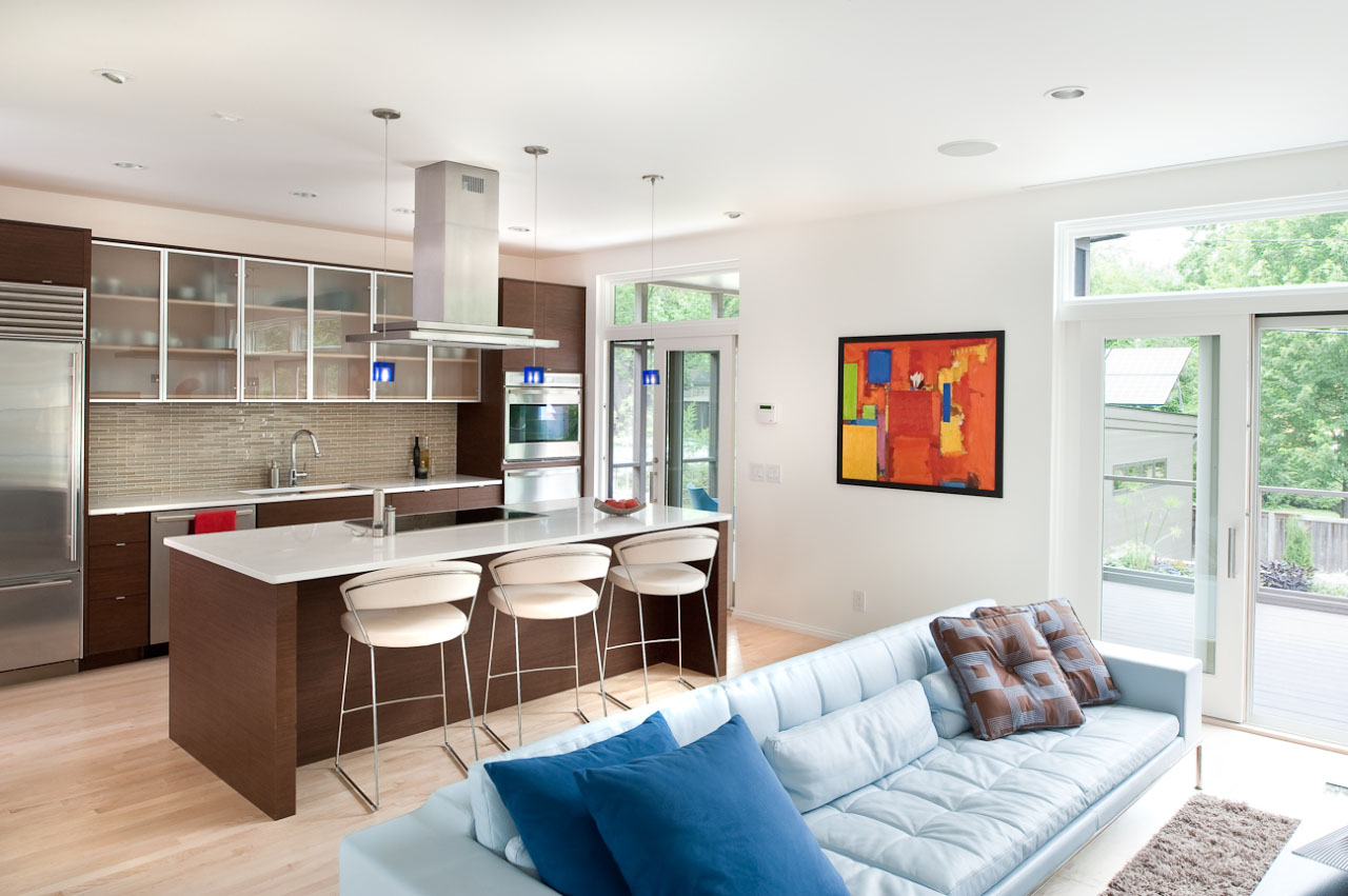 Фото кухни с гостинной
